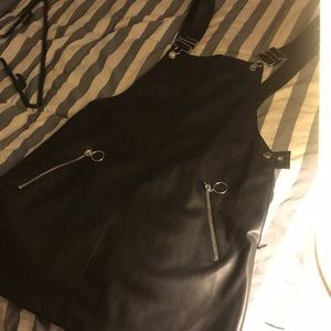 Forever 21 Faux leather overalls